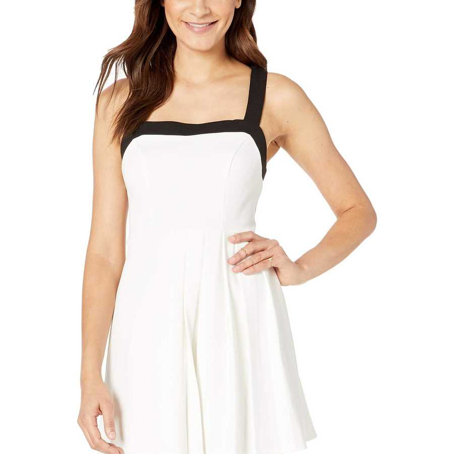 Bcbgeneration Optic White Cocktail Pleated Knit Dress
