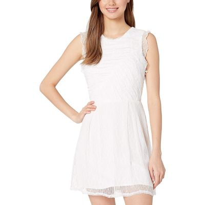 BCB Generation - Bcbgeneration Optic White Shirred Lace Dress - Cxa6190029