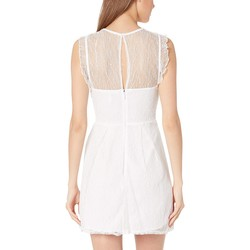 Bcbgeneration Optic White Shirred Lace Dress - Cxa6190029 - Thumbnail