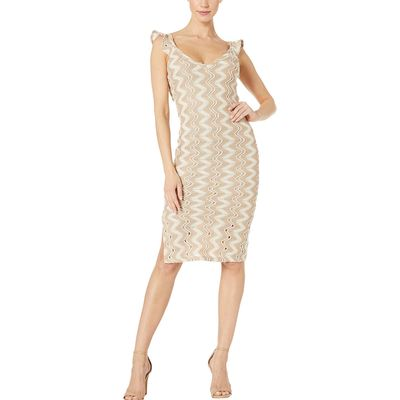 BCB Generation - Bcbgeneration Taupe Knit Sweater Midi Dress - Tat6206223