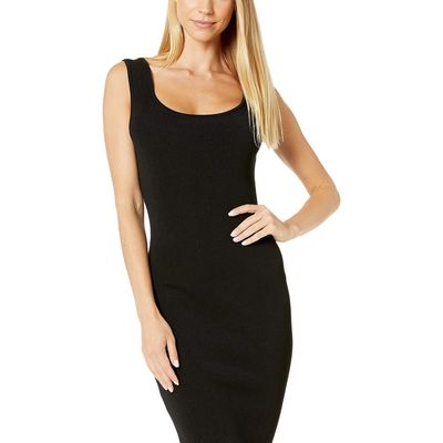 BCBG Max Azria - Bcbgmaxazrıa Black Cocktail Midi Sweater Dress