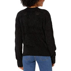Bcbgmaxazrıa Black Crew Neck Long Sleeve Pullover Sweater - Thumbnail