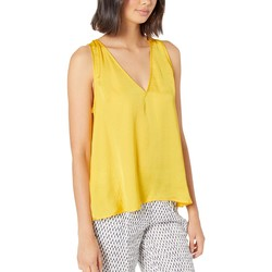 Bcbgmaxazrıa Yellow A-Line Sleeveless Woven Top - Thumbnail