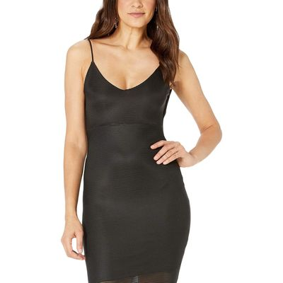 Bebe - Bebe Black Back Cowl Neck Dress