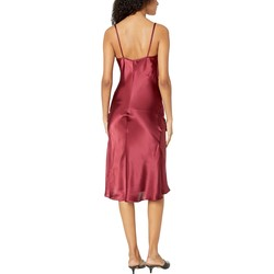 Bebe Burgundy Satin Slip Dress - Thumbnail