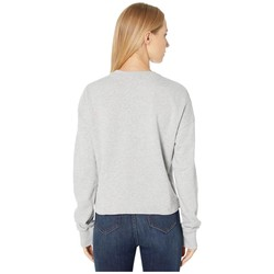 Bebe Heather Grey French Terry Graphic Top - Thumbnail