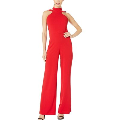 Bebe - Bebe Red Choker Neck Jumpsuit