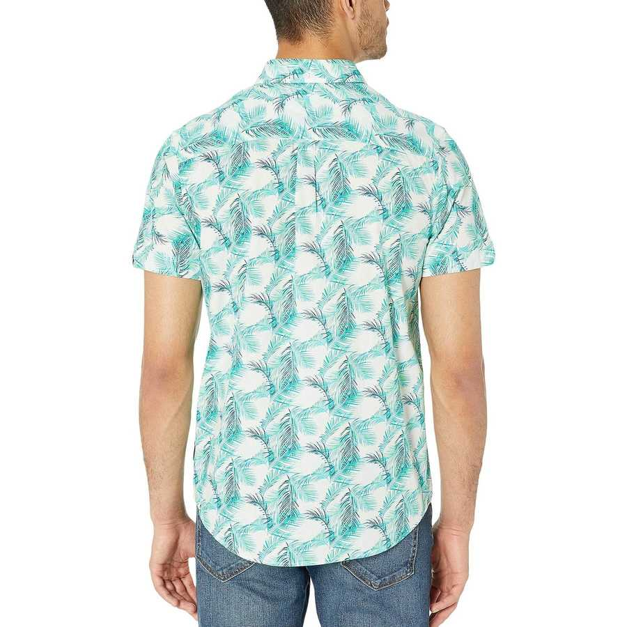 Ben Sherman White Short Sleeve Palm Leaf Print Shirt