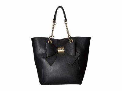 Betsey Johnson - Betsey Johnson Black Bag in Bag Bow Tote Handbag
