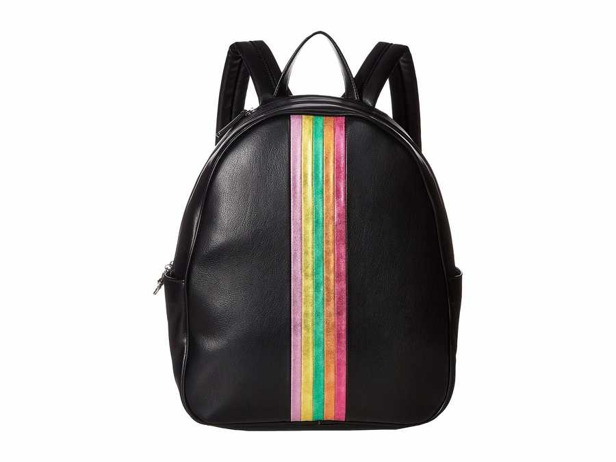 Betsey Johnson Black Between The Lines Backpack