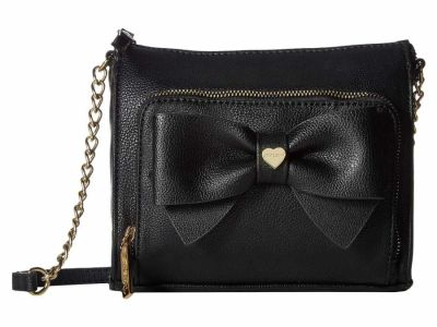 Betsey Johnson - Betsey Johnson Black Bow Cross Body Bag