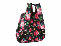 Betsey Johnson Black Floral New Shape Backpack - Thumbnail