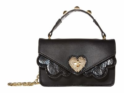 Betsey Johnson - Betsey Johnson Black İn The Clouds Mini Cross Body Bag
