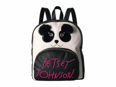 Betsey Johnson - Betsey Johnson Black White Kitsch Backpack