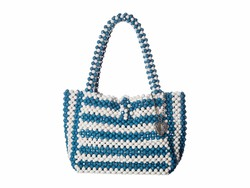 Betsey Johnson Blue Just Bead İt Satchel Handbag - Thumbnail