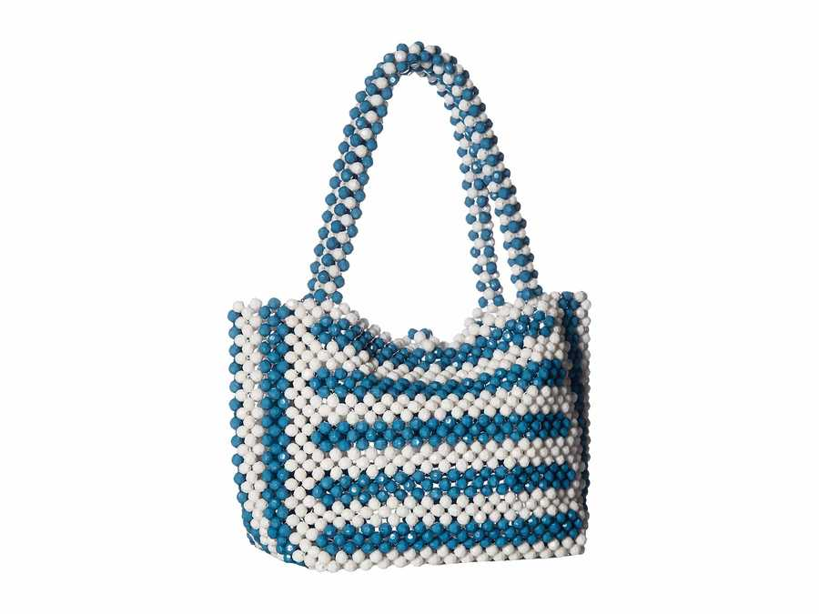 Betsey Johnson Blue Just Bead İt Satchel Handbag
