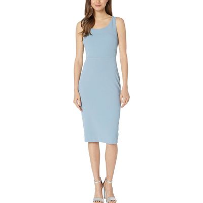 Betsey Johnson - Betsey Johnson Blue/Grey Scuba Crepe Midi Dress