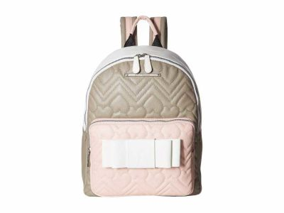 Betsey Johnson - Betsey Johnson Blush Multi Rose Chevron Bow Backpack