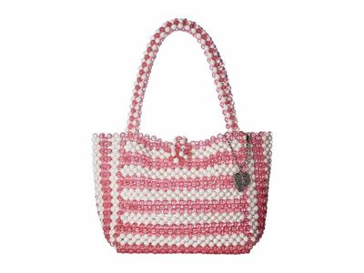 Betsey Johnson - Betsey Johnson Pink Just Bead İt Satchel Satchel Handbag