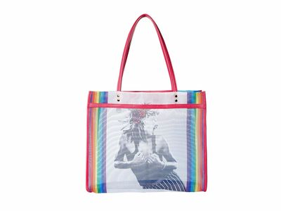 Betsey Johnson - Betsey Johnson Rainbow Mesh İs Fresh Tote Handbag