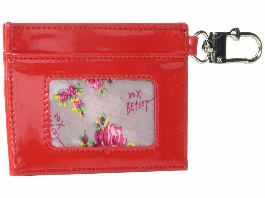 Betsey Johnson Red Card Case Coin Card Case