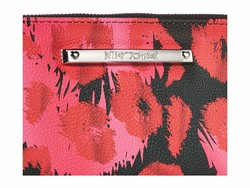 Betsey Johnson Red Multi Zip Around Wallet Checkbook Wallet - Thumbnail