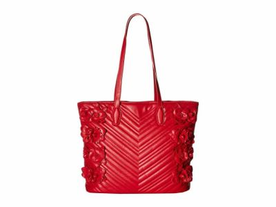 Betsey Johnson - Betsey Johnson Red What in Carnation Tote Handbag