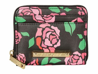 Betsey Johnson - Betsey Johnson Rose Zipper Card Case Coin Card Case