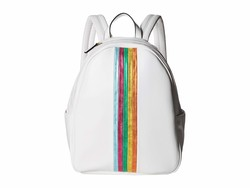 Betsey Johnson White Between The Lines Backpack - Thumbnail