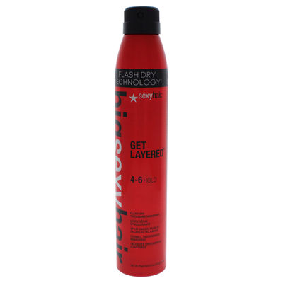 Sexy Hair - Big Sexy Hair Get Layered - Flash Dry Thickening Hair Spray 8oz