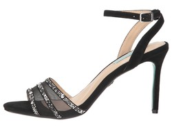 Blue By Betsey Johnson Women Black Veda Heeled Sandals - Thumbnail