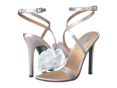 Blue By Betsey Johnson Women İvory Satin Terra Heeled Sandals