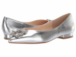 Blue By Betsey Johnson Women Silver Metallic Diana Flat Flats - Thumbnail
