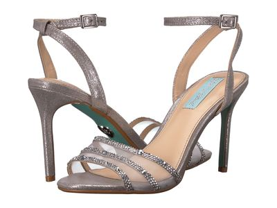 Blue By Betsey Johnson - Blue By Betsey Johnson Women Silver Veda Heeled Sandals