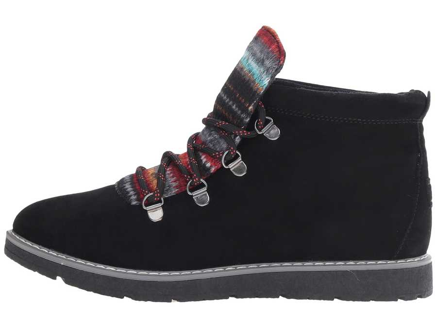 Bobs From Skechers Women Black Bobs Alpine - S'Mores Lace Up Boots