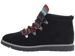 Bobs From Skechers Women Black Bobs Alpine - S'Mores Lace Up Boots - Thumbnail