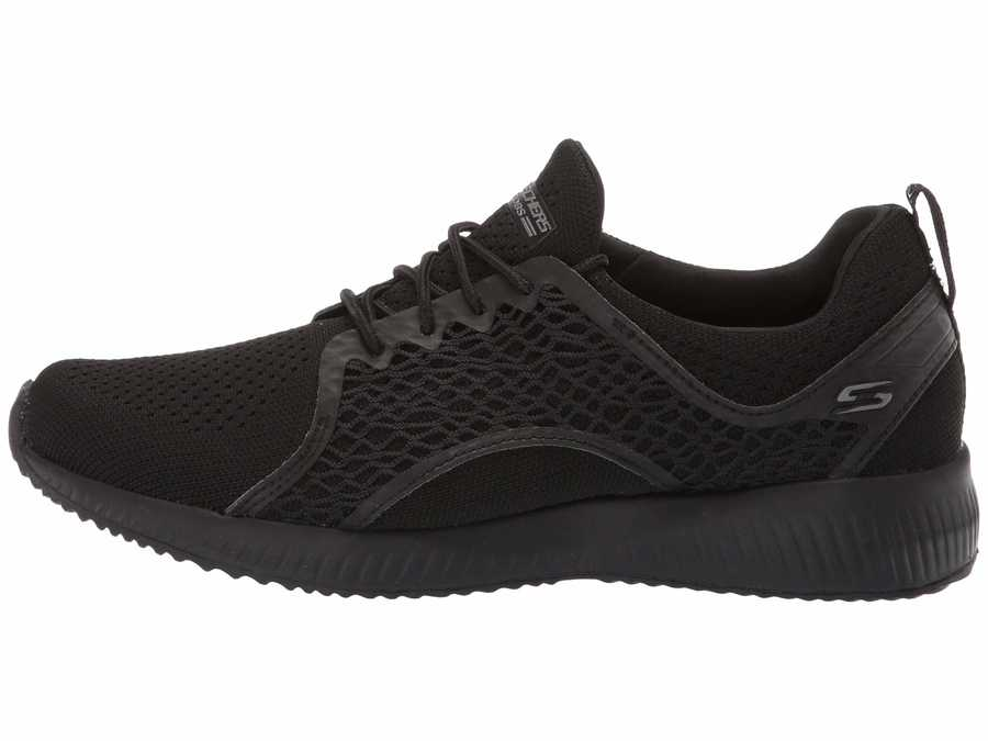 Bobs From Skechers Women Black Bobs Squad - Pocket Ace Lifestyle Sneakers