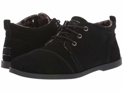 Bobs From Skechers - Bobs From Skechers Women Black Chill Luxe - Windy Roads Chukka Boots