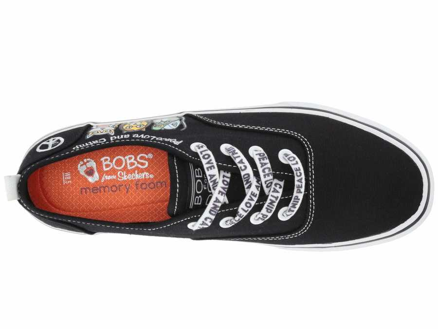 Bobs From Skechers Women Black Multi Marley - Club Pounce Lifestyle Sneakers