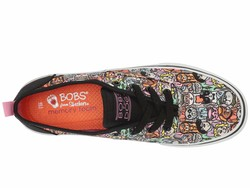 Bobs From Skechers Women Black Multi Marley - Meow Ages Lifestyle Sneakers - Thumbnail