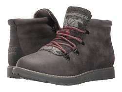 Bobs From Skechers Women Charcoal Bobs Alpine - Keep Trekking Lace Up Boots - Thumbnail