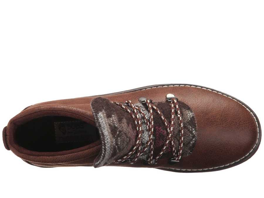 Bobs From Skechers Women Chocolate Bobs Alpine - Keep Trekking Lace Up Boots