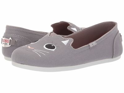Bobs From Skechers - Bobs From Skechers Women Gray Bobs Plush - Cattitude Loafers