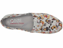 Bobs From Skechers Women Gray Multi Bobs Plush - Hey Batta Batta Flats - Thumbnail
