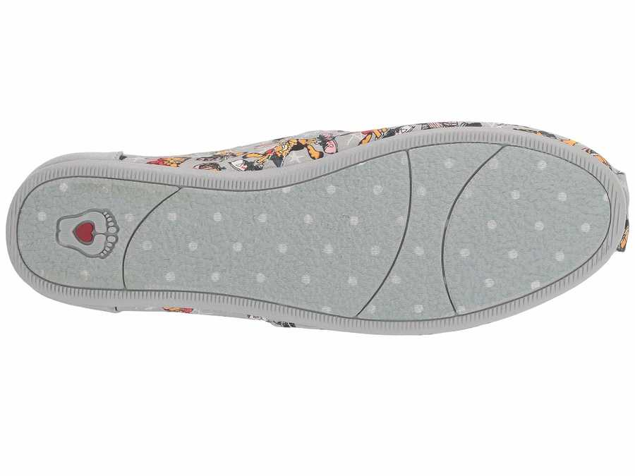 Bobs From Skechers Women Gray Multi Bobs Plush - Hey Batta Batta Flats