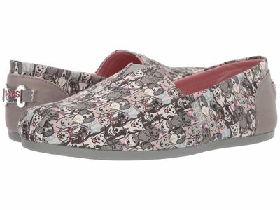 Bobs From Skechers - Bobs From Skechers Women Gray Multi Bobs Plush - Playdate Flats