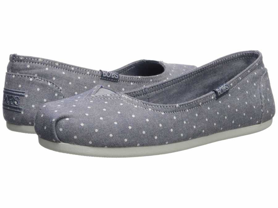 Bobs From Skechers Women Navy Bobs Plush – Tutu Tales Flats