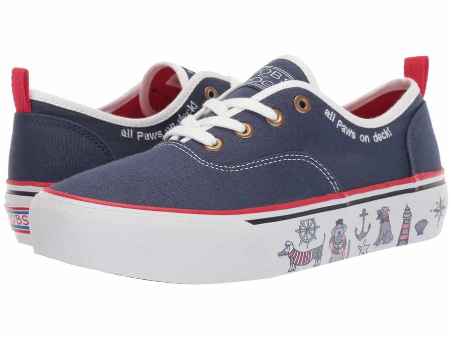 Bobs From Skechers Women Navy Marley - On Deck Lifestyle Sneakers