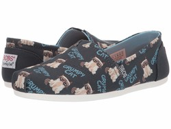 Bobs From Skechers Women Navy Multi Bobs Plush - Crabby Kitty Lifestyle Sneakers - Thumbnail