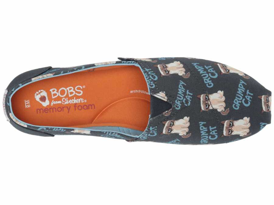 Bobs From Skechers Women Navy Multi Bobs Plush - Crabby Kitty Lifestyle Sneakers